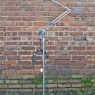 SUPERB HADRILL & HORSTMANN POLISHED METAL TROLLEY LAMP FLOOR STANDARD LIGHT