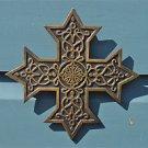 Ancient brass Knights Templar cross celtic star wall cross Maltese emblem