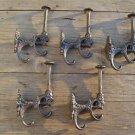 Set of 5 superb large cast iron Griffin coat hook wall hanging coathooks AL70