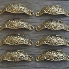 8 brass Victorian cup drawer handle dresser draw pull handle c/w screws 2003