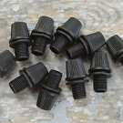 A SET OF 10 BLACK NYLON 10MM ENTRY CORD GRIPS HANGING LIGHT CABLE GRIP PENDANT