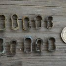 A COLLECTION OF 10 ORIGINAL ANTIQUE FURNITURE ESCUTCHEONS KEYHOLES LOCK BC11