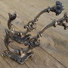 Pair of superb large cast iron serpent coat hook wall hanging hook coathook AL68