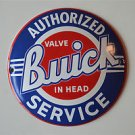 Heavy quality porcelain advertising sign Buick service garage plaque round