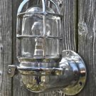 Stylish ocean liner hinged wall light bulkhead passage lamp polished metal OCL1N