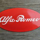 Superb heavy quality porcelain advertising sign Alfa Romeo wall plaque garage
