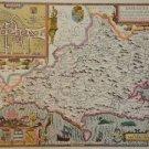 OLD COPY OF JOHN SPEED MAP OF DORSETSHYRE DORSET DORCHESTER  1610