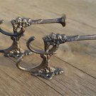 Pair of superb large cast iron Griffin coat hook wall hanging hook coathook AL70