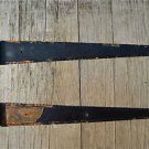 A PAIR OF LARGE WROUGHT IRON GATE T HINGES DOOR HINGE RUSTIC ANTIQUE STYLE 3