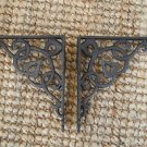 Pair of cast iron small Art Nouveau wall shelf brackets bracket 5 inch AL37