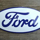 Superb heavy quality porcelain advertising sign Ford white oval wall plaque