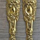 A pair of brass Victorian pier cabinet ormolu furniture mounts lion head 2001