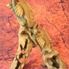 BEAUTIFUL LARGE HARDWOOD FISH CARVING SCENE BB12