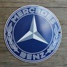 Superb heavy quality porcelain advertising sign Mercedes Benz garage plaque Blue