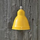 SMALL RETRO YELLOW TULIP HANGING LIGHT SHADE LAMP SHADE C/W NICKEL BULB HOLDER