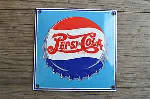 Superb heavy quality porcelain advertising sign soda cola wall plaque RA2