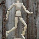 GOOD QUALITY WOODEN ARTIST ARTICULATED HUMAN MODEL MANNEQUIN POSEABLE MAN FIGURE