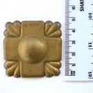 Original antique pressed brass furniture mount mirror cartouche emblem B1