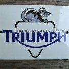Superb heavy quality porcelain advertising sign motorcycle wall plaque RA1
