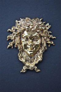 Superb solid brass Bacchus Roman god of wine Dionysus Greek god ormolu mount
