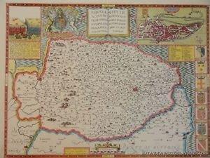 OLD COPY OF JOHN SPEED MAP OF 1610 NORFOLK NORWICH FAKENHAM