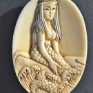 Hand carved mermaid pendant South seas island pendent charm sailor necklace M4