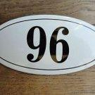 ANTIQUE STYLE ENAMEL DOOR NUMBER 96 HOUSE NUMBER DOOR SIGN PLAQUE