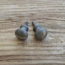PAIR OF CAST IRON SMALL SCREW IN DRAWER DOOR KNOB PULL HANDLE BUREAU KNOB WH15