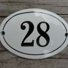 SMALL ANTIQUE STYLE ENAMEL DOOR NUMBER 28 SIGN PLAQUE HOUSE NUMBER FURNITURESIGN