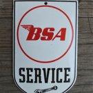 Superb heavy quality porcelain advertising sign BSA service garage plaque B1