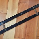 Large original antique ebony & brass parallel ruler navigational instrument 2