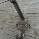 CLASSIC LNER ANTIQUE STYLE CAST IRON COAT HOOK RAILWAY CARRIAGE HOOK 2 PART