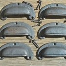 6 classic chunky cast iron vintage drawer pull handle industrial retro CS1