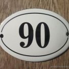 SMALL ANTIQUE STYLE ENAMEL DOOR NUMBER 90 SIGN PLAQUE HOUSE NUMBER FURNITURESIGN
