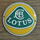Superb heavy quality porcelain advertising sign Lotus garage plaque round