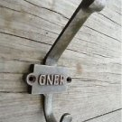 CLASSIC GNER ANTIQUE STYLE CAST IRON COAT HOOK RAILWAY CARRIAGE HOOK 2 PART