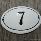 SMALL ANTIQUE STYLE ENAMEL DOOR NUMBER 7 SIGN PLAQUE HOUSE NUMBER FURNITURESIGN