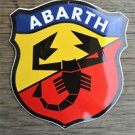 Heavy quality porcelain advertising sign Abarth shield garage plaque
