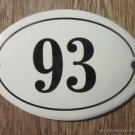 SMALL ANTIQUE STYLE ENAMEL DOOR NUMBER 93 SIGN PLAQUE HOUSE NUMBER FURNITURESIGN