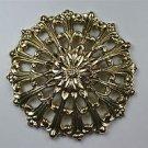 Beautiful Art Nouveau brass ormolu roundel mount mirror furniture emblem SMB2