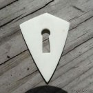 SHIELD BOX ESCUTCHEON KEYHOLE NATURAL WHITE MATERIAL