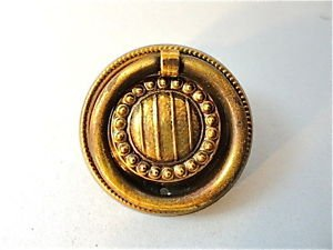 CLASSIC QUALITY BRASS ANTIQUE STYLE FURNITURE DRAWER RING PULL HANDLE W94