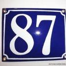 EDWARDIAN STYLE ENAMEL DOOR NUMBER 87 SIGN PLAQUE