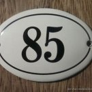 SMALL ANTIQUE STYLE ENAMEL DOOR NUMBER 85 SIGN PLAQUE HOUSE NUMBER FURNITURESIGN