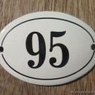 SMALL ANTIQUE STYLE ENAMEL DOOR NUMBER 95 SIGN PLAQUE HOUSE NUMBER FURNITURESIGN