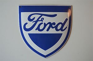 Superb heavy quality porcelain advertising sign Ford garage plaque