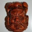 HAND CARVED WOODEN MYSTICAL GOD ORIENTAL NETSUKE WOOD CARVING LC9 UK SELLER