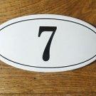 ANTIQUE STYLE ENAMEL DOOR NUMBER 7 HOUSE NUMBER DOOR SIGN PLAQUE