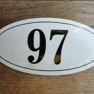ANTIQUE STYLE ENAMEL DOOR NUMBER 97 HOUSE NUMBER DOOR SIGN PLAQUE