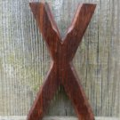 HANDCARVED WOODEN 3 DIMENSIONAL LETTER X SIGN FONT SHELF ART NAME LETTER